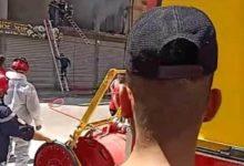 صورة سطيف/حريق مهول ينشب بأحد المباني بالهضاب