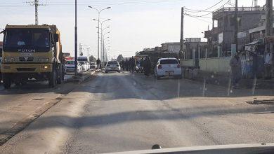 صورة الطارف / إنسداد على الطريق الوطني 44 بمدخل قرية سيدي قاسي