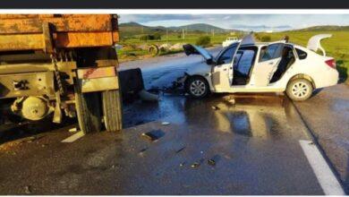 Photo of سكيكدة/ وفاة شخص و اصابة اثنين اخرين في حادث تصادم سيارة بشاحنة دو وزن ثقيل بعزابة