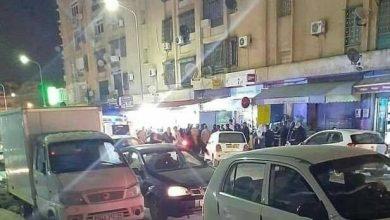 صورة قسنطينة / الطريق الرئيسي عبد الحفيظ بوصوف بعلي منجلي …تنتعش بالتجارة الموازية  ليلا