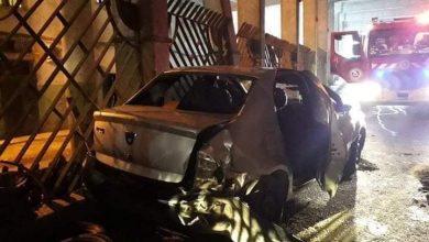 صورة سكيكدة /  إصابة شخصين في حادث انقلاب سيارة سياحية بوسط سكيكدة .