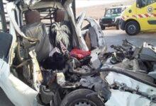 صورة الاغواط / قتيلان في حادث مرور خطير