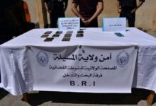 صورة المسيلة/ فرقة البحث والتدخل (BRI) بأمن ولاية المسيلة تحجز كمية من الكيف المعالج