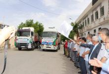 صورة خنشلة /إنطلاق قافلة تضامنية لفائدة الشعب الفلسطيني الشقيق 