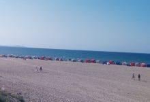 صورة الطارف / شواطئ مكتظة بالمصطافين في عطلة نهاية الاسبوع
