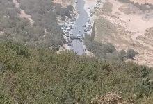 صورة باتنة / مواطنون يقدمون على غلق طريق وطني بسبب نزاعات حول الماء بواد الطاقة بباتنة