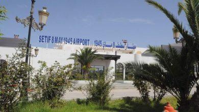 صورة والي سطيف يشرف على معاينة أشغال توسعة مطار 08 ماي 1945.