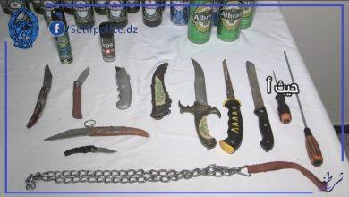 صورة سطيف / شرطة سطيف تضع حد لمجرم خطير بحي طانجة الشعبي .