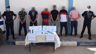 صورة قسنطينة / الأمن الحضري الخارجي الحادي عشر بعلي منجلي يوقف 8 أشخاص ينتمون لعصابة أحياء
