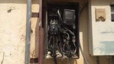 صورة قسنطينة / احتراق 40 عدادا كهربائيا بحي برحال رابح بمنطقة بكيرة ببلدية حامة بوزيان