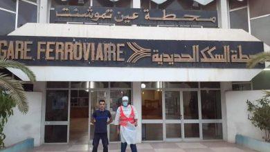 صورة عين تيموشنت / المكتب الولائي للمنظمة الوطنية من للشباب ذوي الكفاءات العلمية والمهنية من أجل الجزائر ينظم حملة تطوعية ضد فيروس كورونا