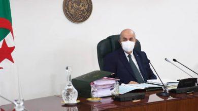 صورة بيان مجلس الوزراء الذي تراسه رئيس الجمهورية عبد المجيد تبون اليوم