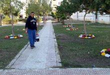 صورة الطارف /  عروسي عبد العزيز من بلدية شبيطة مختار شاب بطال يقوم بتنظيف المدينة و غرس الاشجار تطوعا طيلة سنوات