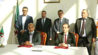 صورة وهران /توقيع إتفاقية بين سونطراك ومديرية الرياضة لتسليم قاعة متعددةالتي بلغت النسبة أشغالها 70%
